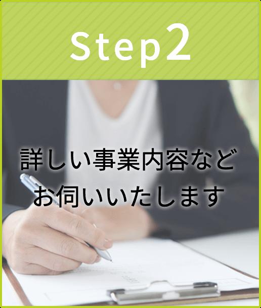 step2-詳しい事業内容などお伺いいたします-イメージ