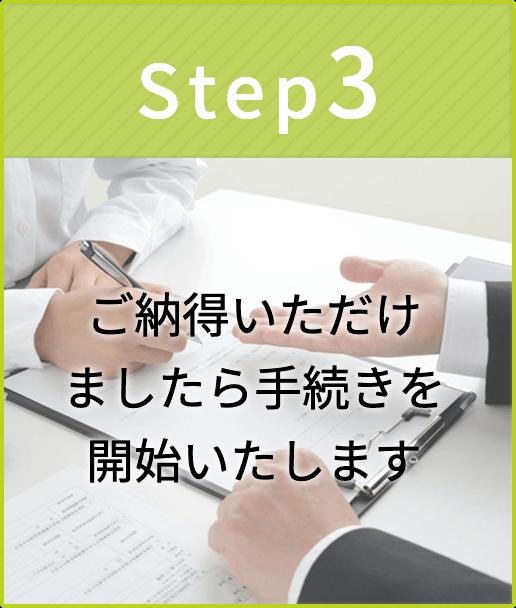 step3-ご納得いただけましたら手続きを開始いたします-イメージ